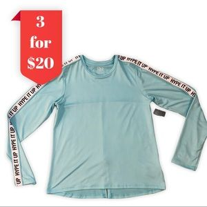 3/$20 NWT Girls Long Sleeve Athletic Works Top